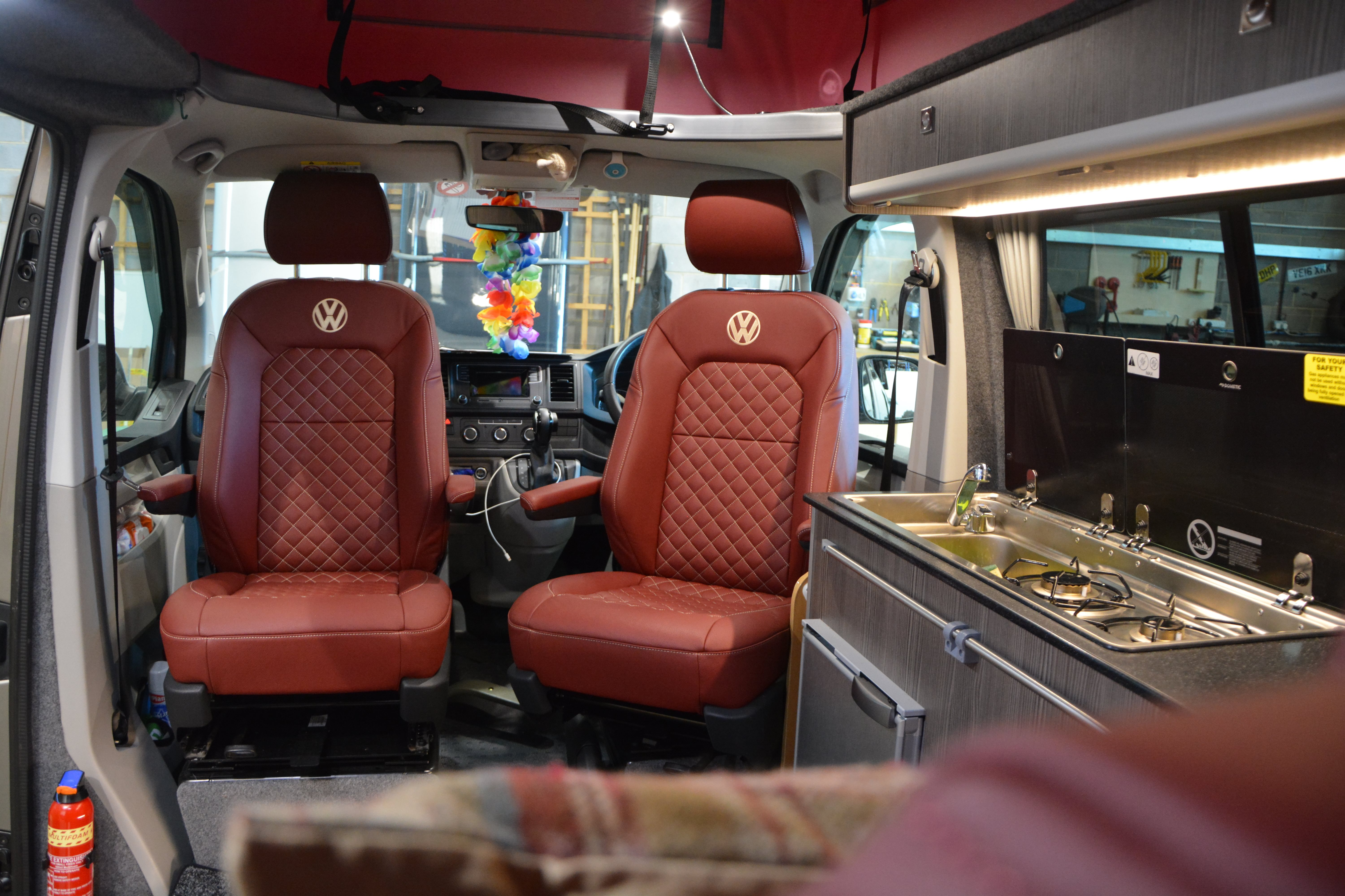 T6 Camper Red Leather