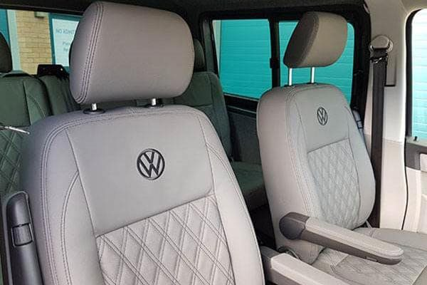 VW Logo Leather Upholstery